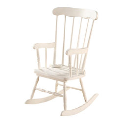 "Acme - Kloris Collection White Finish Wood Children's Size Rocker Chair - Kloris collection white finish wood Children's size rocking chair. Measures 22"" x 20"" x 28""H. Some assembly required."