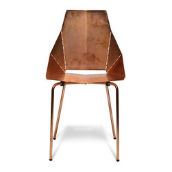 Blu Dot - Blu Dot Copper Real Good Chair - Welcome to the fold. This copper-plated chair ships flat and folds out to become a remarkably comfy (not to mention strikingly handsome) seat for your dining room, living room or bedroom.