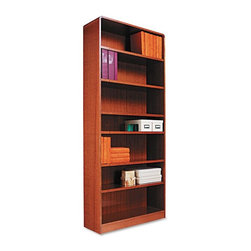 Alera - Alera BCR78436MO Aleradius Corner Wood Veneer Bookcase - Medium Oak Multicolor - - Shop for Bookcases from Hayneedle.com! About AleraWith the goal of meeting the needs of all offices -- big or small casual or serious -- Alera offers an excellent line of furnishings that you'll love to see Monday through Friday. Alera is committed to quality innovative design precision styling and premium ergonomics ensuring consistent satisfaction.
