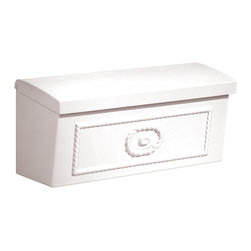 Salsbury Industries - White Surface Mounted Townhouse Mailbox - The Salsbury Surface Mounted Townhouse Mailboxes may be used for U.S.P.S. residential door mail delivery. A crisp white,this mailbox features a durable powder-coated finish.