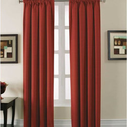 Arlee Home Fashions - Arlee Home Fashions Stockton Woven Blackout Pole Top Panel Pair - 29-41444RED - Shop for Curtains and Drapes from Hayneedle.com! With a beautiful natural rib that adds texture the Arlee Home Fashions Stockton Woven Blackout Pole Top Panel Pair are subtle enough to work with any room decor. Machine washable for your convenience the panels feature a pole top pocket which makes it easy to hang them from a decorative curtain rod. Available in your choice of colors and sizes these solid color room darkening panels are ideal for bedrooms living rooms dining rooms and media rooms. Made for practicality as well as style these curtains lower your home heating and cooling costs by up to 25% and also blocks out 99% of the light and up to 40% more noise than regular curtains. Additional Features Lowers home heating and cooling costs Lowers costs by up to 25% Blocks out 99% of outside light Blocks up to 40% more noise About Arlee Home FashionsArlee Home Fashions Inc. manufactures and markets household textiles like decorative pillows chair pads floor cushions curtains table linens and pet beds. The company was incorporated in 1976 and is based in New York New York.