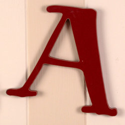 RR - On Sale Capital Wall Letters in Red - Letter A - On Sale Capital Wall Letters in Red Letter A