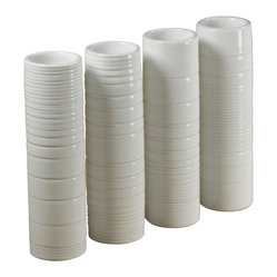 Hand-thrown Vases, Set of 4
