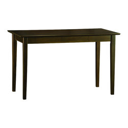 Atlantic Furniture - Atlantic Furniture Shaker Work Table in Antique Walnut - Atlantic Furniture - Work Table - AH11104 - The perfect size for any office the Shaker Work Table gets the job done by itself or with help from a Printer Stand or Writing Table.