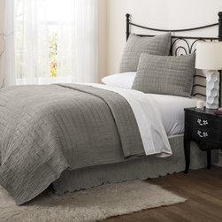Lush Decor Crinkle 3-piece Solid Quilt Set -