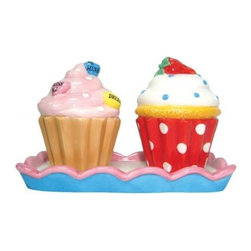 Westland - 3.25 Inch Multi-Colored Cupcake Treats in Tray Salt and Pepper Shakers - This gorgeous 3.25 Inch Multi-Colored Cupcake Treats in Tray Salt and Pepper Shakers has the finest details and highest quality you will find anywhere! 3.25 Inch Multi-Colored Cupcake Treats in Tray Salt and Pepper Shakers is truly remarkable.