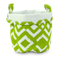 MAIKA - Recycled Canvas Bucket, Ikat Chartreuse, Chartreuse, Large - AS SEEN ON THE TODAY SHOW
