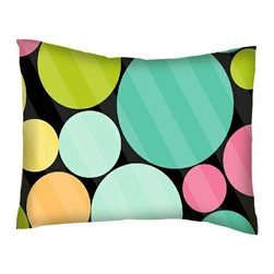 SheetWorld - SheetWorld Twin Pillow Case - Percale Pillow Case - Primary Colorful Dots Black - Pillow case is made of a durable all cotton percale material. Fits a standard twin size pillow. Features a Primary Colorful Dots Black print.