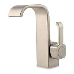 Price Pfister - Price Pfister Skye 4-Inch Single Control Centerset Faucet - The sleek design of this faucet will lend modern sophistication to your bathroom. The laminar flow creates a stylish sheet of water.