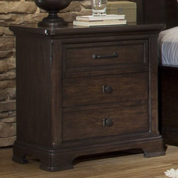 Emerald Home - Crystal Ridge 3 Drawer Night Stand Multicolor - B195-04 - Shop for Nightstands from Hayneedle.com! Classic style plenty of storage and modern conveniences make the Crystal Ridge 3 Drawer Night Stand an essential bedside companion. A well-crafted night stand this one is made of hardwood solids and rustic white oak veneers in a rich chestnut finish that brings out its perfectly distressed details. Textured burnished hardware a felt-lined top drawer and cedar-lined bottom drawer round out the style and practicality. A built-in electronics charging station and extra drawer are ultra handy. About Emerald Home FurnishingsFounded in 1962 Emerald Home Furnishings supplies to home furniture retailers throughout the United States Canada Mexico Australia Japan Taiwan England and other countries. The company originally started as a distributor of bed frames and furniture and over the years has added a number of high-quality items to its product line. The company s mission is to strive for innovation integrity and excellent service.