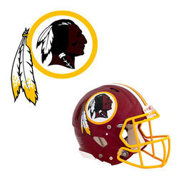 Brewster Home Fashions - NFL Washington Redskins Wall Graphics 4pc Teammate Stickers - FEATURES: