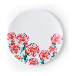 Q Squared NYC - Madison Bloom Salad Plate Set/6 - Transport your dining table to historical Montecito with the beautiful, vibrant colors of this collection, inspired by the intricate tiles and textures of the romantic city.