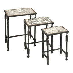 "IMAX CORPORATION - Knoxlin Nesting Tables Set of 3 - Knoxlin Nesting Tables Set of 3. Set of 3 tables in varying sizes measuring approximately 18.25-20.25-23.5""H x 12.5-15.5-18""W x 8.25-10-12"" each. Shop home furnishings, decor, and accessories from Posh Urban Furnishings. Beautiful, stylish furniture and decor that will brighten your home instantly. Shop modern, traditional, vintage, and world designs."