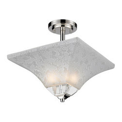 Z-Lite - Z-Lite 319SF Pershing 2 Light Semi-Flush Ceiling Fixture - Z-Lite 319SF Pershing 2 Light Semi-Flush Ceiling FixtureFrom Z-Lite's Pershing Collection, featuring a steel frame, glass shade and modern lines highlight this two light semi-flush light from the Pershing Collection. With a height of 13.5 inches and a luxurious polished nickel finish, this semi-flush light adds a contemporary feel to any room.Z-Lite 319SF Features:
