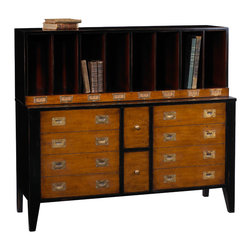 French Heritage - French Heritage Storage Unit/Bookcase - Get your affairs in order. Our clean, scholarly and attractive units bring a well tailored, refined quality to your den, library or study.- Hanging File Drawers.- Mahogany/Cherry. - Weight: 220lbs