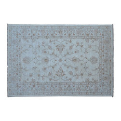 1800-Get-A-Rug - Oushak Oriental Rug Stone Wash Hand Knotted Rug Floral Sh9081 - About Oushak and Ziegler Mahal
