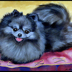 Caroline's Treasures - Pomeranian Indoor Or Outdoor Mat 24X36 Doormat - Indoor / Outdoor Mat 24x36 - 24 inches by 36 inches. Permanently dyed and fade resistant. Great for the front door or the back door.  Use this mat inside or outside.    Use a garden hose or power washer to chase the dirt off of the mat.  Do not scrub with a brush.  Use the Vacuum on floor setting.  Made in the USA.  Clean stain with a cleaner that does not produce suds.