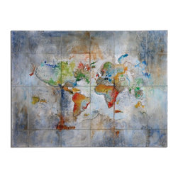 Uttermost - Uttermost World Of Color Modern Art 34256 - Rich colors hand painted on canvas with a high gloss finish. Canvas has been stretched and attached to wooden stretching bars. Due to the handcrafted nature of this artwork, each piece may have subtle differences.