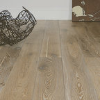 """Wimberley B&B - 7"""" wide European White Oak engineered floors by duChateau. Flooring will be glue-down, and finished with Rubio Monocoat - a flaxseed based natural oil."""
