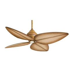 Minka Aire - Minka Aire Gauguin Ceiling Fan in Bahama Beige - Minka Aire Gauguin Model F581-BG in Bahama Beige with Mandalay All Weather Finished Blades. Single light halogen fixture.