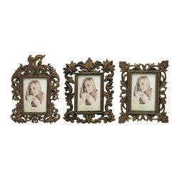 Exquisite Polystone Photo Frame, Set of 3 - Description: