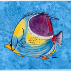 Caroline's Treasures - Fish Tropical Kitchen Or Bath Mat 20X30 - Kitchen / Bath Mat 20x30 - 20 inches by 30 inches. Permanently dyed and fade resistant. Great for the Kitchen, Bath, outside the hot tub or just in the door from the swimming pool.    Use a garden hose or power washer to chase the dirt off of the mat.  Do not scrub with a brush.  Use the Vacuum on floor setting.  Made in the USA.  Clean stain with a cleaner that does not produce suds.