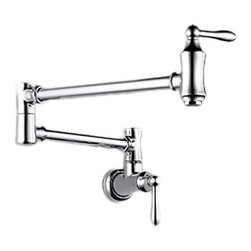 Delta - Delta 1177LF Traditional Wall Mount Pot Filler Faucet - Chrome - Delta 1177LF Traditional Collection features simple and elegant lines designed to complement traditional decor. The Delta 1177LF is a Traditional Wall Mount Pot Filler in Chrome.