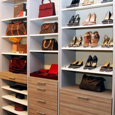 contemporary clothes and shoes organizers by More Space Place