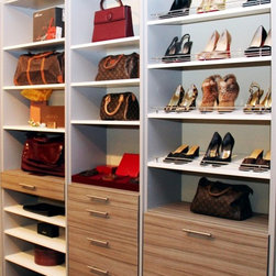 Floor-Based Closet System - More Space Place products - Murphy Beds, Custom Closets, Organizing Systems, Garages and Workshops, Hidden Beds, Home Offices, Pantries and more!