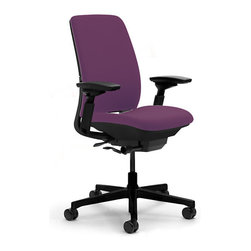 Steelcase - Steelcase Amia Task Chair, Black Base w/Arm & Standard Casters, Concord - Covering your back: This task chair is created with a unique LiveLumbar system of flexors that contour to fit your spine and move with you throughout the day. So when the task at hand proves stressful, you know you're completely supported.