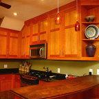 cherry shaker style kitchen -
