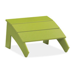 Emmet Ottoman - A modern take on the symbol of rustic, American relaxation. Made from 100 percent recycled plastic.