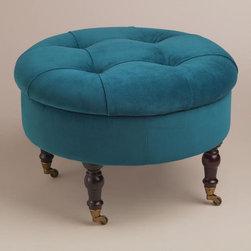 Round Peacock Lucille Ottoman -