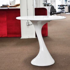 contemporary dining tables Twist Round Dining Table in White Lacquer