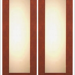 """AAW Inc. - Contemporary Entry Door Model NW-1657 - Model NW-1657 from our New World Collection. Door is solid Mahogany, 2-1/4"""" thick with clear or matte low-E glass."""