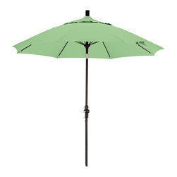 California Umbrella - 9 Foot Pacifica Crank Lift Collar Tilt Aluminum Patio Umbrella, Black Pole - California Umbrella, Inc. has been producing high quality patio umbrellas and frames for over 50-years. The California Umbrella trademark is immediately recognized for its standard in engineering and innovation among all brands in the United States. As a leader in the industry, they strive to provide you with products and service that will satisfy even the most demanding consumers.