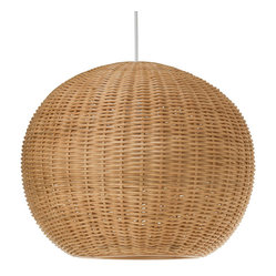 Kouboo - Wicker Ball Pendant Light - Add a little natural light to your interiors with this pendant. Made entirely of wicker, it diffuses the light for a warm, ambient glow.