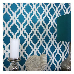 Cutting Edge Stencils - Tamara Trellis Allover Stencil - Reusable Stencils for Walls - DIY Home Decor, S - Try wall stencils instead of expensive wallpaper! Cutting Edge Stencils offers the best stencils for DIY décor - stencils expertly designed by professional decorative painters Janna Makaeva and Greg Swisher who have over 20 years of painting experience. We are a reputable stencil company that stands behind its high quality product. We are honored to have your 100% positive feedback