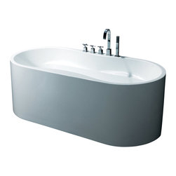 "AKDY - AKDY AK-ZF241 Europe Style White Acrylic Free Standing Bathtub, 67"" - AKDY free standing acrylic bathtubs come in many styles, shapes, and designs. The acrylic material used for tubs is very durable, light weight, and can be molded into a variety of shapes and styles which explain the large selection available in this product category. Acrylic free standing tubs are a cost efficient way to give your bathroom a unique beautiful touch. A bathtub is no longer just a piece of cast iron metal thrown into a bathroom by a builder."