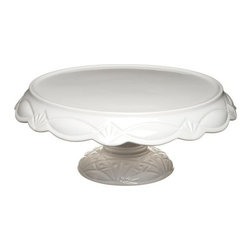 Rosanna - Le Gateau Pedestal Cake Plates- Large, By Rosanna - The elements of Le Gateau are modern interpretations of the iconic cut glass cake plates of 1920's America. These pieces have enough integrity to stand on their own, or work wonderfully together to make a striking statement when laden with cakes or hors d'oeuvres.