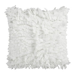 Surya Rugs - White Plush Petal 22 x 22 Pillow - This fun pillow livens up any space. The color white accents this decorative pillow. This pillow contains a poly fill and a zipper closure. Add this 22 x 22 pillow to your collection today.  - Includes one poly-fiber filled insert and one pillow cover.   - Pillow cover material: 100% Polyester Surya Rugs - HH069-2222P
