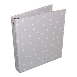 Bigso Box - Bigso Grey Dots 3-Ring Binder - Yoo-hoo Lovies, meeting your organizational needs and your style needs for your space is easy with Bigso boxes and desk accessories. Bigso Box paper laminate products are super-strong, acid free recycled fiberboard. European A4 size is slightly larger than other 1 inch capacity size binders. Mix and match with all the Bigso box colorful desk accessories to fit your office organization needs and make a chromatic design statement that is super fabulous.