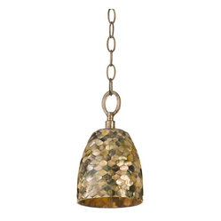 Naturals 1-Light Pendant, Black Chain