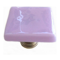 Uneek Glass Fusions - Lavender Fused Glass Cabinet Knob - Collection: Liscio
