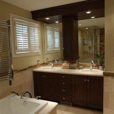 Transitional Bathroom by Eric Summers Design