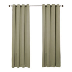 "Best Home Fashion - Solid Grommet Top Thermal Insulated Blackout Curtains - 1 Pair, Olive, 72"" - Bring warmth and style to your home with high-quality insulated Blackout window curtain pair. The grommet top adds a modern touch and provides energy efficient comfort. It features innovative fabric construction. Compared to other curtains, our product is extremely SOFT and DRAPERY. The sophisticated designs allow you to decorate your windows with great style. NEVER compare our Blackout Curtains with those cheap ones that are stiff and looks like a shower curtain. Blackout is perfect for : Late sleepers Shift workers Seniors Infants & parents Students Computer operators Care instruction : -Machine wash warm with like colors. -Use only non-chlorine bleach when needed. -Tumble dry low. -Warm iron as needed"