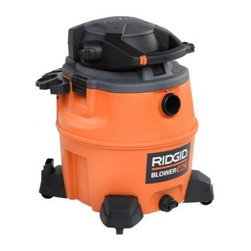 RIDGID - RIDGID Vacuum. 16 Gal. Wet/Dry Vac with Blower WD1680 - Shop for Appliances at The Home Depot. This newly designed RIDGID 16 gallon wet/dry vac is a multifunctional powerhouse. Its powerful motor and large drum size allow it to perform extremely well as a conventional vac. In addition, the vacuum's power head detaches and quickly converts into a 180 peak MPH handheld blower with a locking blowing wand that outperforms most dedicated leaf blowers. The quick-release cord wrap lets you spend less time unwrapping the 20 ft. cord, and more time on the job. The caddy conveniently keeps your accessories and hose close at hand. It's like two incredible tools in one.