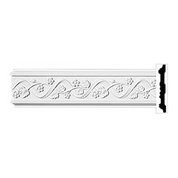 "Renovators Supply - Crown Moldings Urethane Belle Maison Crown Molding - Ornate | 11630 - Crown Moldings: Made of virtually indestructible high-density urethane our crown molding is cast from steel molds guaranteeing the highest quality on the market. High-precision steel molds provide a higher quality pattern consistency, design clarity and overall strength and durability. Lightweight they are easily installed with no special skills. Unlike plaster or wood urethane is resistant to cracking, warping or peeling.  Factory-primed our crown molding is ready for finishing.  Measures 96"" x 4""."