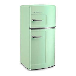 Big Chill - Big Chill Studio 14.4 cu. ft. Top-Freezer Fridge - Jadite Green - STUDIO SIZE BIG CHILL FEATURES (14.4 CU. FT.)