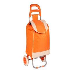 Rolling Fabric Cart Orange - Dimensions: 15.75inx10.24inx36.61in